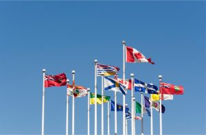 National and Provincial Flags of Canada